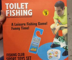 toilet fishing funny picture
