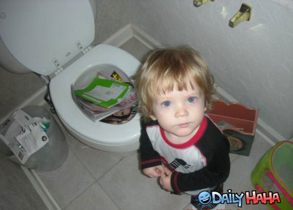 Toilets Clogged funny picture