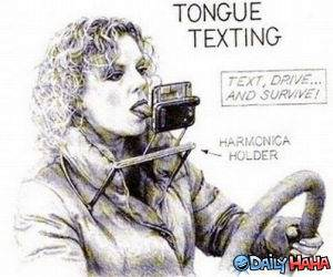 Tongue Texting funny picture