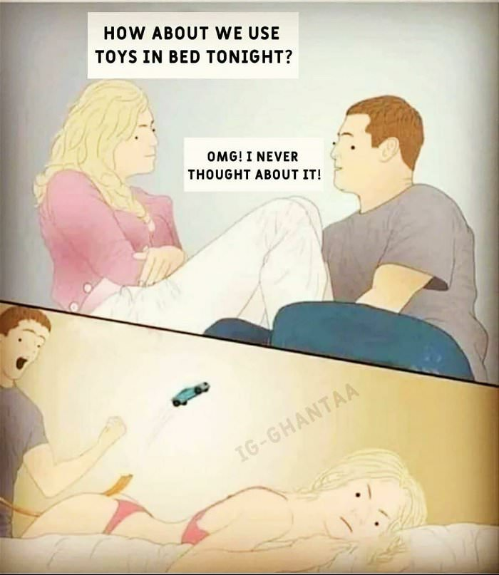 toys in bed