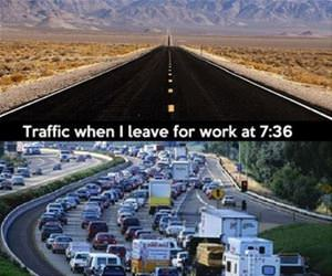 traffic in the mornings funny picture