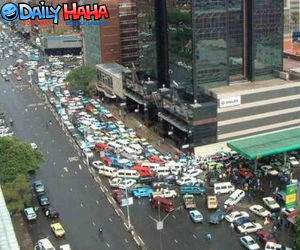 Insane traffic jam picture.