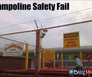 Trampoline Safety funny picture