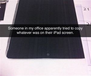 tried to copy ipad funny picture