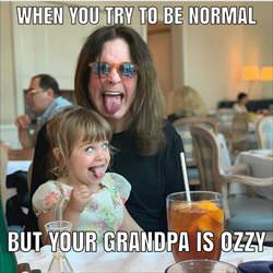 try to be normal