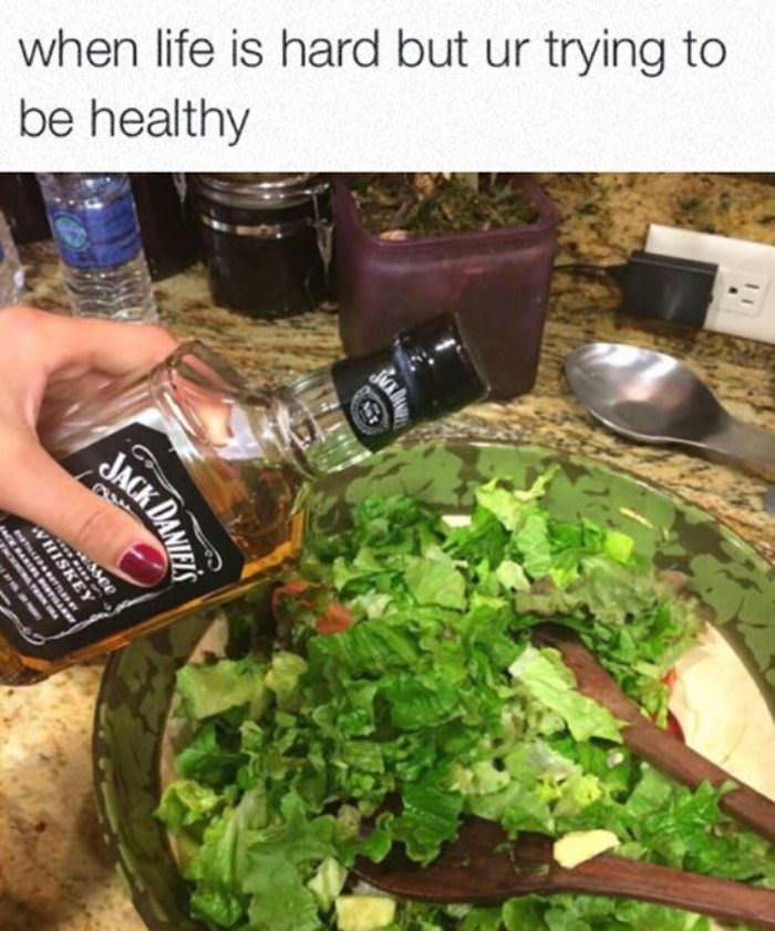 trying to be healthy funny picture