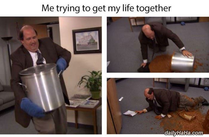 trying to get my life together funny picture