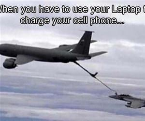 use your laptop to charge your phone funny picture