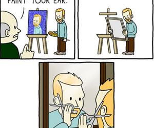 van gogh forgot your ear funny picture