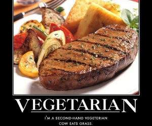 vegetarian funny picture