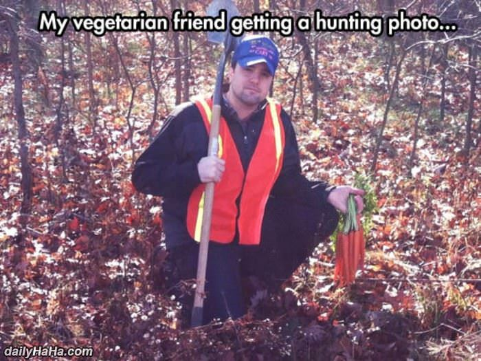 vegetarian hunting funny picture