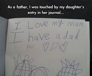 very touching journal entry funny picture
