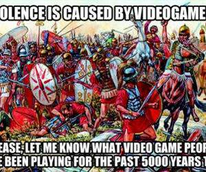 Violent Video Games funny picture