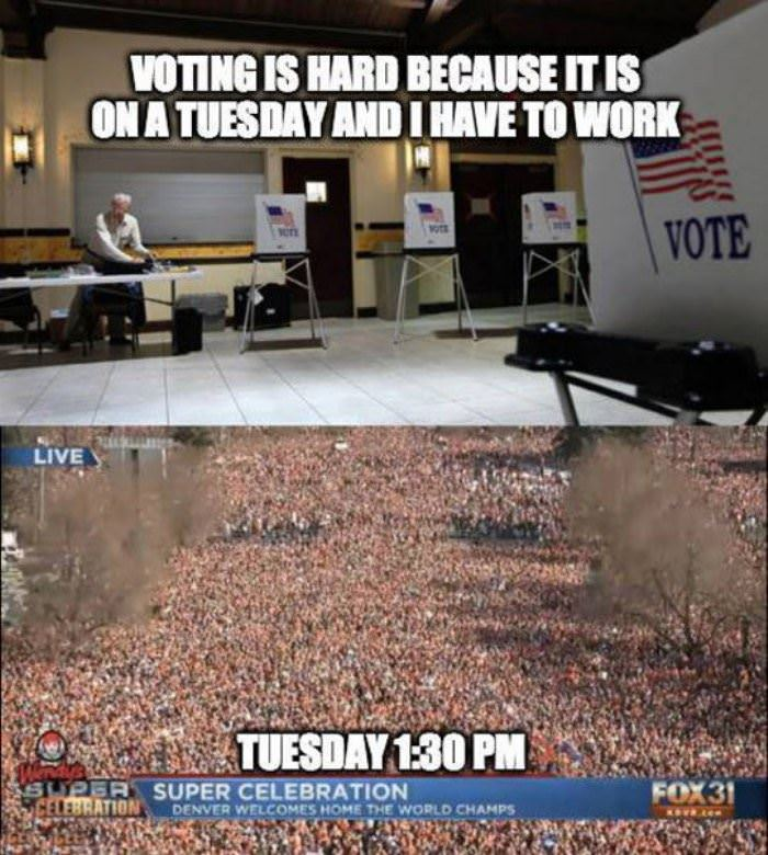 voting is hard funny picture