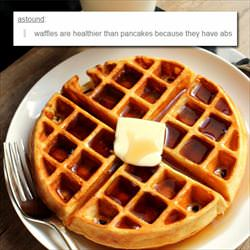 waffles are healthier than pancakes