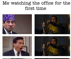 watching the office