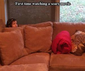 watching a scary movie funny picture
