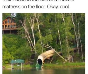 waterslide to the lake funny picture