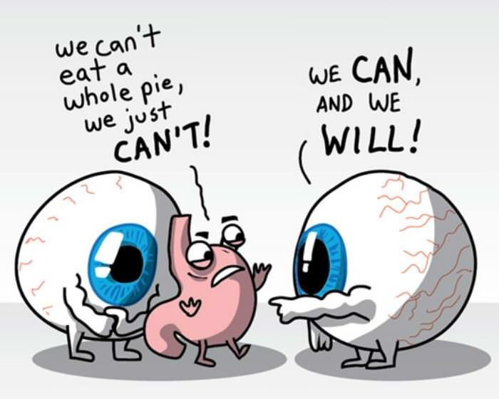 we cant eat all that pie funny picture