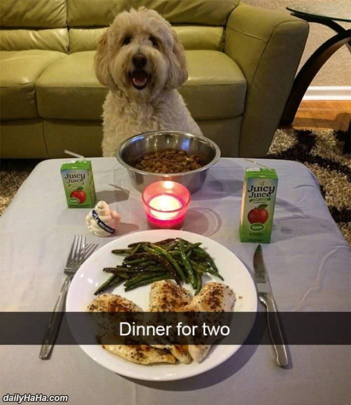 we have dinner for two funny picture