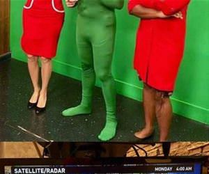 weatherman nailed his costume funny picture