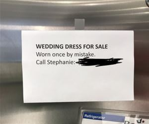 wedding dress for sale funny picture