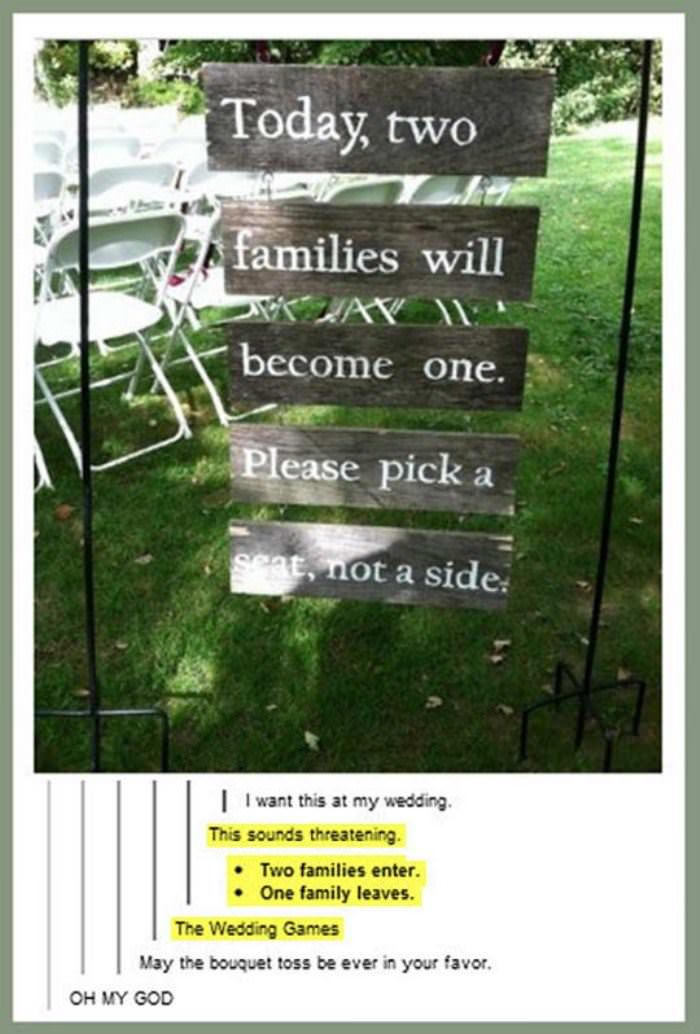 wedding seats funny picture