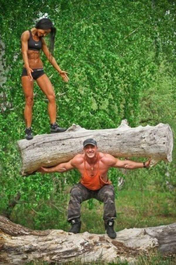 Strong Couple funny picture