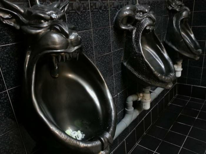 weird urinals