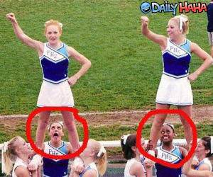Weird Face Cheerleaders