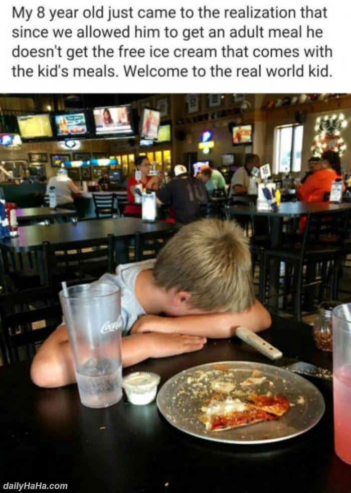welcome to the real world kid funny picture
