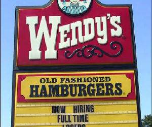 Wendys Hiring Funny Picture