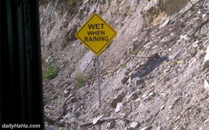 wet when raining funny picture