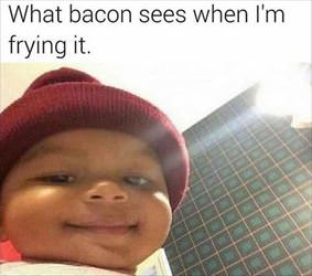 what the bacon sees