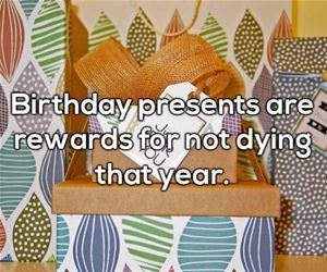 what are birthday presents really funny picture