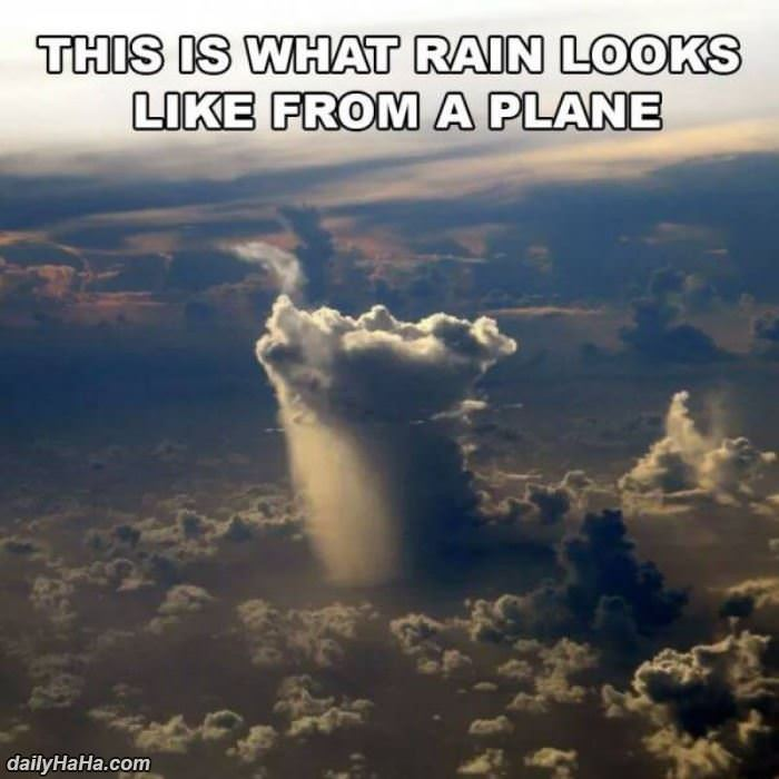 what rain looks like from a plane funny picture