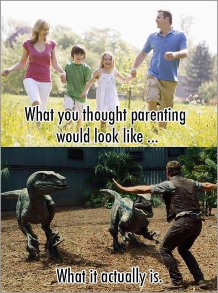 what you thought parenting would be funny picture