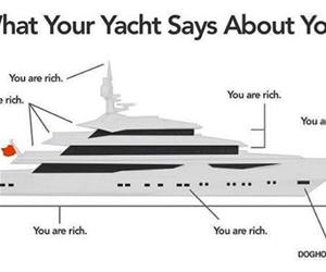 what your yacht says about you funny picture