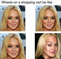 wheels on a shopping cart