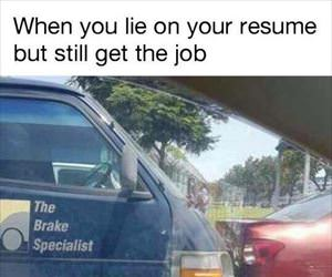 when you lie on your resume ... 2
