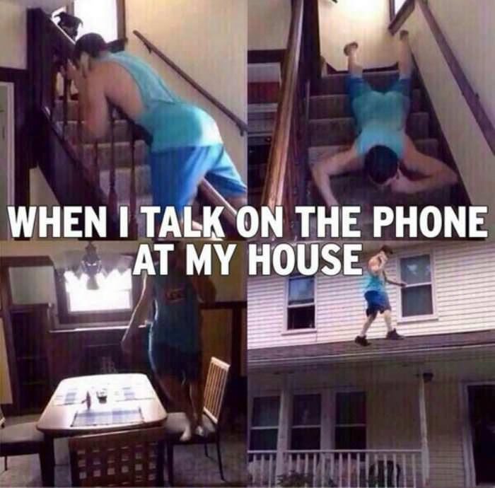 when i talk on the phone funny picture
