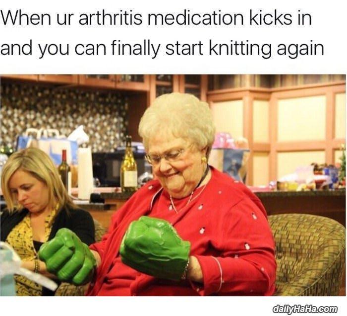 when the medicine kicks in funny picture