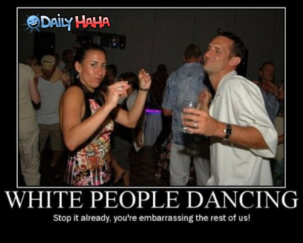 White People Dancing Funny Picture thumb