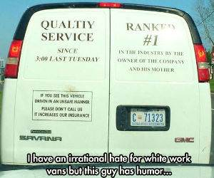 white work vans funny picture