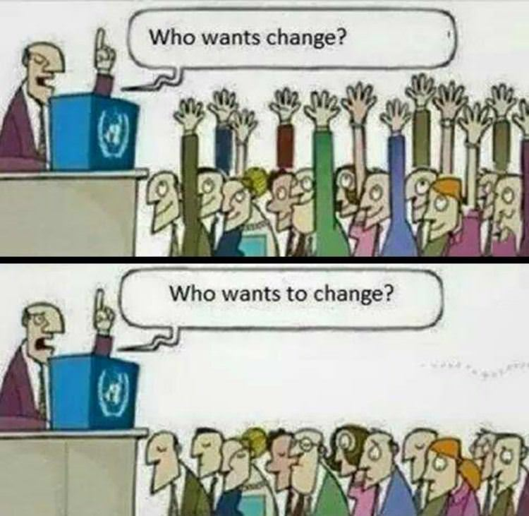 who wants change funny picture