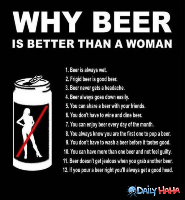 Beer is Better Than Females funny picture