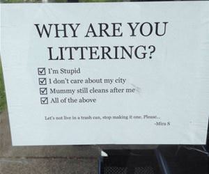 why are you littering funny picture
