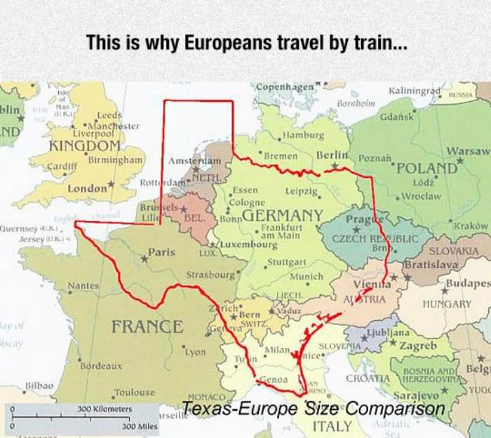 why europeans travel by train funny picture
