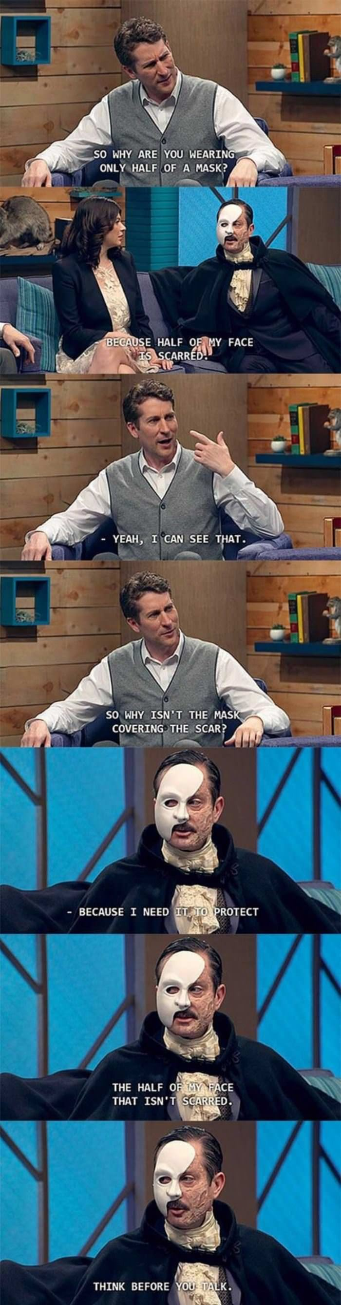 why the mask funny picture