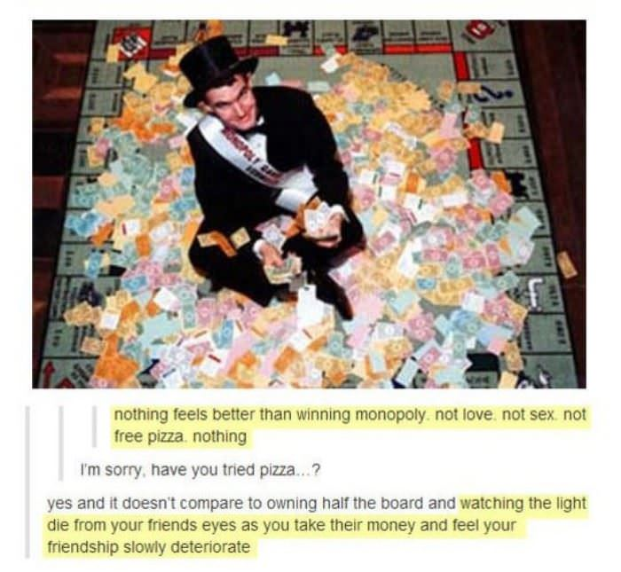winning at monopoly funny picture